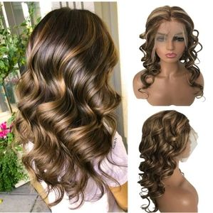 Ombre Blonde Human Hair Lace Front Wig